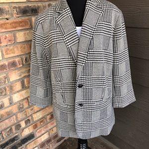 🔥Ralph Lauren black and white blazer size 16W NWT